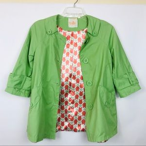 Tulle green jacket 3/4 length sleeve 418